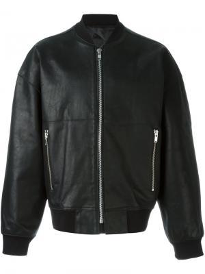 Куртка бомбер Études. Цвет: чёрный