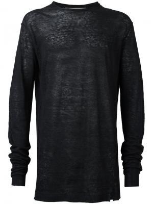 Вязаный свитер Damir Doma. Цвет: синий