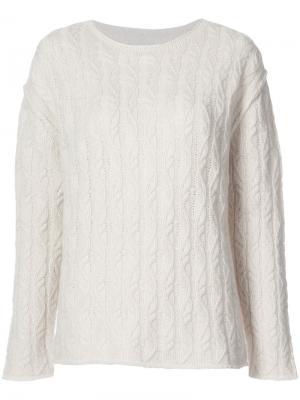 Вязаный свитер Nili Lotan. Цвет: телесный