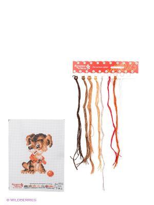 Набор для вышивания Тобик Матренин Посад. Цвет: белый, коричневый