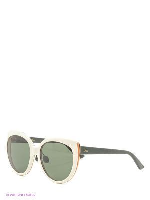 Солнцезащитные очки CHRISTIAN DIOR. Цвет: зеленый, белый