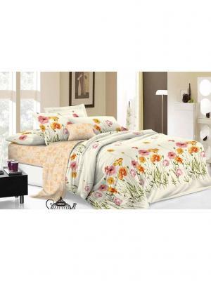 Комплект постельного белья евро, поплин BegAl. Цвет: молочный