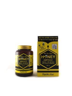 Многофункциональная ампульная сыворотка с медом, 250 мл Farm Stay. Цвет: прозрачный
