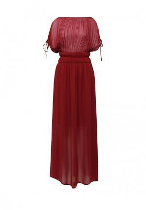 Платье Sisley. Цвет: бордовый