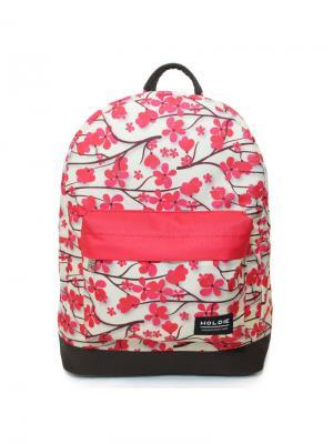 Рюкзак Holdie Sakura. Цвет: малиновый, белый