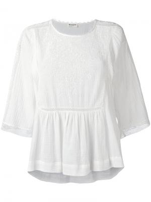 Broderie anglaise blouse Masscob. Цвет: белый