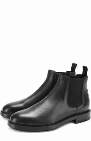Классические кожаные челси Marsala Dolce & Gabbana. Цвет: черный