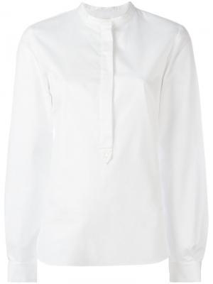 Рубашка с воротником-стойкой на пуговице Vanessa Bruno. Цвет: белый