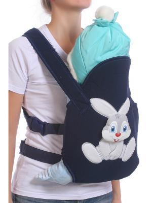 Слинг-рюкзак M-BABY. Цвет: темно-синий, белый