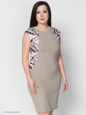 Платье LE MONIQUE. Цвет: серый, розовый
