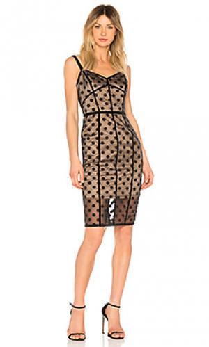 Платье isabella noir Bronx and Banco. Цвет: черный