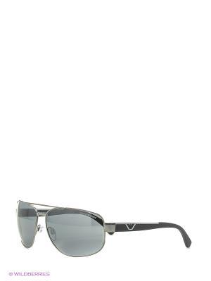 Солнцезащитные очки Emporio Armani. Цвет: темно-серый