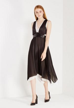 Платье Sisley. Цвет: черно-белый
