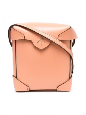 Сумка через плечо Tan Mini Manu Atelier. Цвет: жёлтый и оранжевый