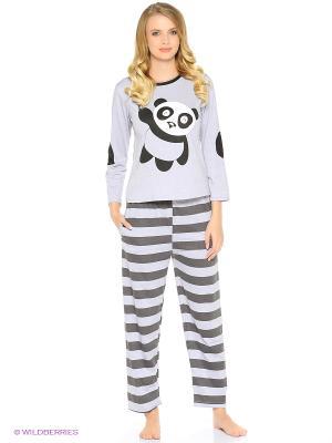 Пижама Panda (серо-черная) Kawaii Factory. Цвет: серый, черный