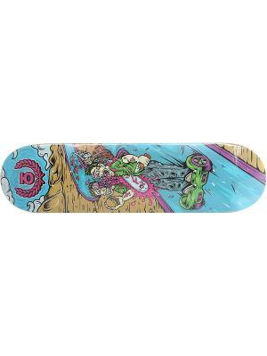 Профессиональный скейтборд Gyrd, размер 8,125x31,75, конкейв Medium Юнион скейтборды. Цвет: голубой, светло-коричневый, фиолетовый