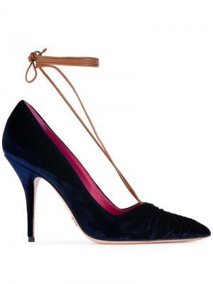 Туфли-лодочки Ilenia со шнуровкой Oscar Tiye. Цвет: синий