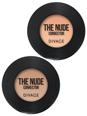 Набор №83 корректор для лица кремовый concealer the nude тон 01,02 DIVAGE. Цвет: кремовый, темно-бежевый
