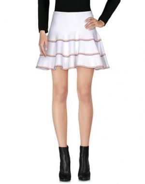 Мини-юбка ELLA LUNA. Цвет: белый