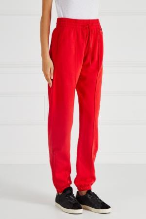 Хлопковые брюки Re/done. Цвет: красный