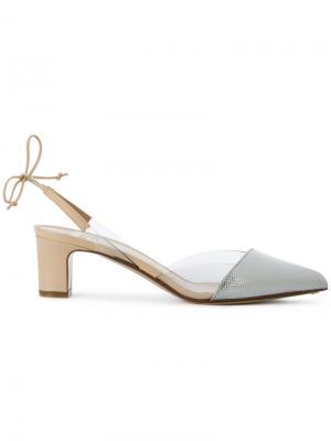 Туфли с завязками на пятке Francesco Russo. Цвет: серый