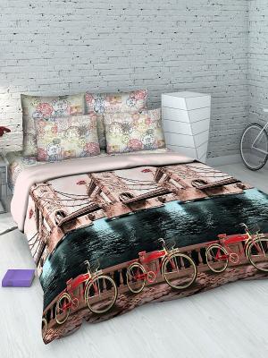 Комплект постельного белья Василиса. Цвет: светло-коричневый, черный, серый