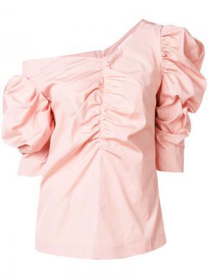 Блузка с оборками Isa Arfen. Цвет: розовый и фиолетовый