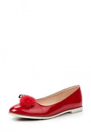 Балетки Encor. Цвет: красный