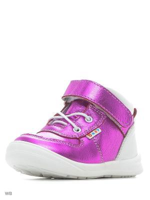 Ботинки San Marko. Цвет: фуксия, белый