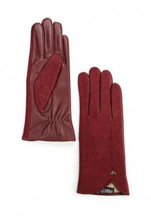 Перчатки Fabretti. Цвет: бордовый