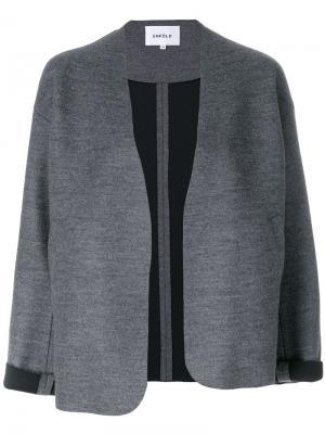 Укороченная свободная куртка Enföld. Цвет: серый