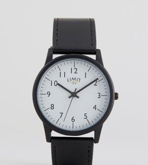 Limit Часы с черным ремешком эксклюзивно для ASOS. Цвет: черный