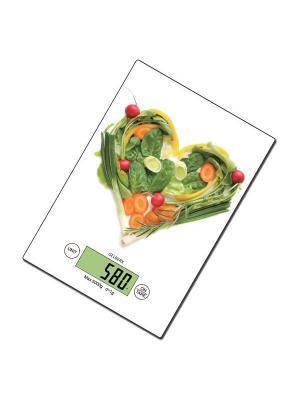 Весы кухонные Gelberk. Цвет: зеленый, белый