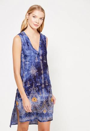 Платье домашнее Mia-Mia. Цвет: синий