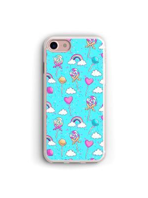 Чехол для iPhone 7/8 Сладость Boom Case. Цвет: морская волна, розовый