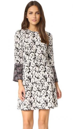 Платье с разрезами на рукавах Derek Lam 10 Crosby. Цвет: черный мульти