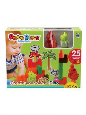Динопарк K'S Kids. Цвет: зеленый, коричневый, красный