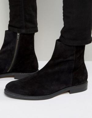 Zign Замшевые ботинки с молнией. Цвет: черный