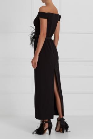 Платье с открытыми плечами A LA RUSSE. Цвет: черный