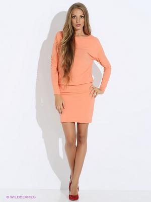 Платье GUESS. Цвет: оранжевый