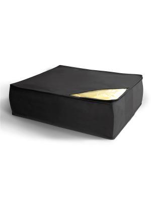 Кофр для хранения одеял, подушек и пледов Miolla. Цвет: черный