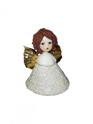 Статуэтка Ангел-колокольчик Zampiva. Цвет: белый, золотистый, коричневый