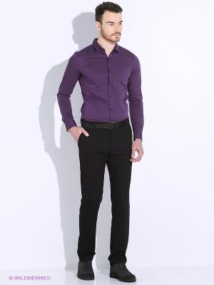 Сорочка Oodji. Цвет: темно-фиолетовый