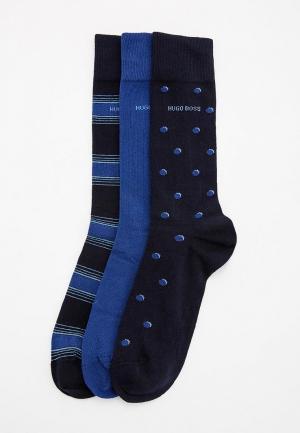 Комплект носков 3 пары Boss Hugo. Цвет: синий