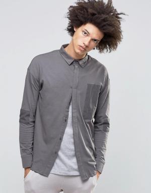 Systvm Рубашка Cain. Цвет: серый