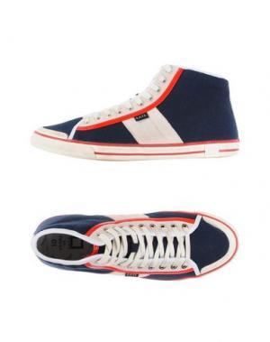 Высокие кеды и кроссовки D.A.T.E.. Цвет: темно-синий