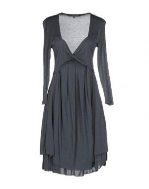 Платье до колена LA FEE MARABOUTEE. Цвет: грифельно-синий