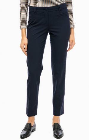 Классические зауженные брюки синего цвета MORE &. Цвет: синий