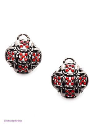 Серьги Royal Diamond. Цвет: черный, красный