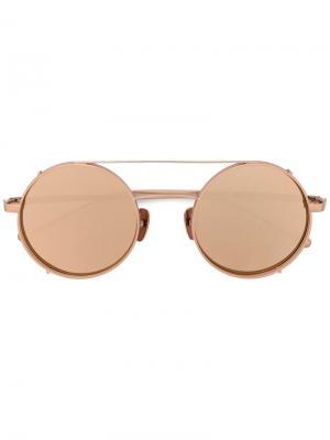 Солнцезащитные очки Daria Maska. Цвет: жёлтый и оранжевый
